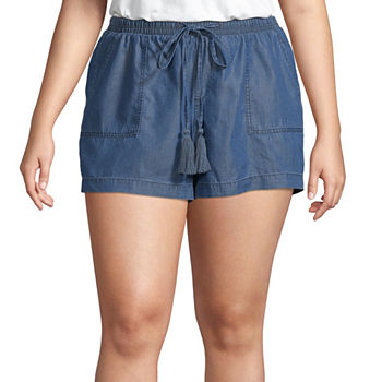 318904988666 a.n.a Tie Front Paperbag Waist 5in Shorts - Plus. Add To Cart. Only at JCP
