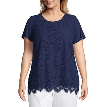 c3c4795c642 Liz Claiborne Plus Size Tops for Women - JCPenney