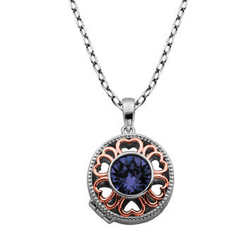 Sparkle Allure Made With Swarovski Crystal Bronze 18 Inch Cable Pendant Necklace