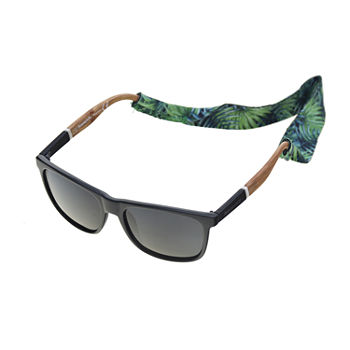 Panama Jack Mens Polarized Full Frame Square Sunglasses
