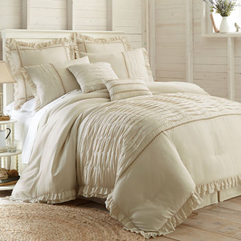 bedding sets vivian pleated product bath comforter pieces park blush pieced set madison