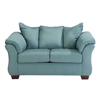 Groovy Signature Design By Ashley Audrey Pad Arm Upholstered Loveseat Andrewgaddart Wooden Chair Designs For Living Room Andrewgaddartcom