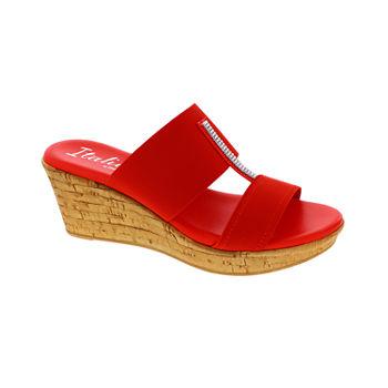 5c8fb9897de2 Wedge Sandals Orange All Women s Shoes for Shoes - JCPenney