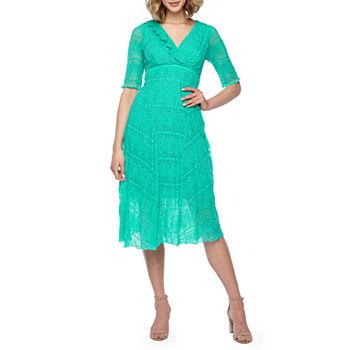 b780856860cf 3 4 Sleeve Green Dresses for Women - JCPenney