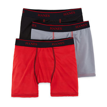 Hanes Big Boys 3 Pack Boxer Briefs