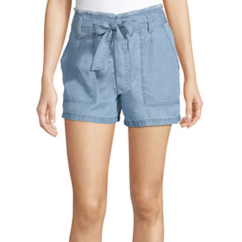 a.n.a Womens High Rise Pull-On Short