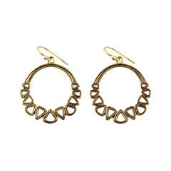 Art Smith by BARSE Brass Hoop Earrings