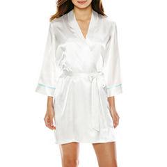 Ambrielle 3/4 Sleeve Satin Robe