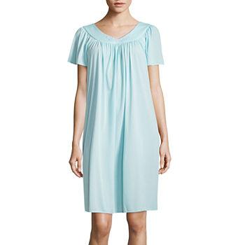 b3a4cb1bce Womens Short Sleeve Sweetheart Neck Knit Nightgown-Plus. Add To Cart. Few  Left