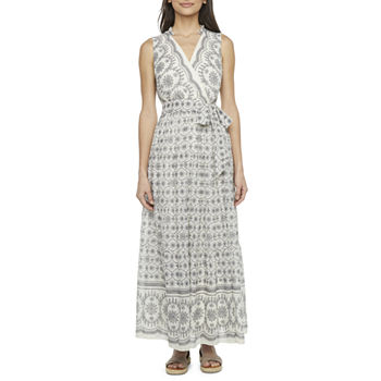 Danny & Nicole Sleeveless Bordered Maxi Dress with Coordinating Face Mask
