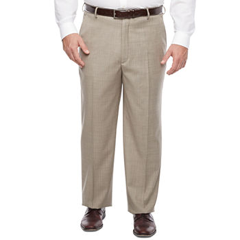 Stafford Mens Striped Stretch Classic Fit Suit Pants - Big and Tall