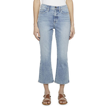 a.n.a Womens High Rise Flare Stretch Cropped Jean