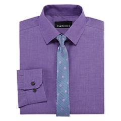 Van Heusen Shirt + Tie Set - Big Kid Boys