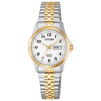 Citizen Quartz Womens Two Tone Stainless Steel Bracelet Watch - Eq2004-95a