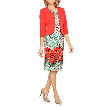 1ba97d8f1d0 Maya Brooke 3 4 Sleeve Jacket Dress. Add To Cart. New. Coral
