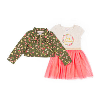 Little Lass Toddler Girls Sleeveless 2-pc. Dress Set