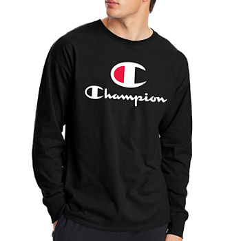 Champion Mens Crew Neck Long Sleeve Graphic T-Shirt