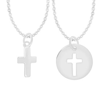 Sparkle Allure It Takes Two 2-pc. Sterling Silver Cross Jewelry Set