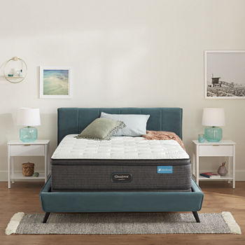 Simmons Beautyrest Harmony Maui Series Plush Pillow-Top Memory Foam Mattress + Box Spring