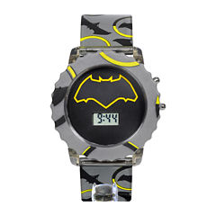 DC Comics® Batman vs. Superman LCD Rotating Flash Dial with Batman Strap Watch
