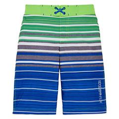 Free Country Boys Stripe Swim Trunks-Big Kid
