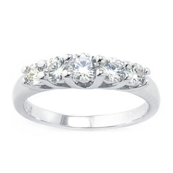 Sparkle Allure Cubic Zirconia Pure Silver Over Brass Anniversary Cocktail Ring