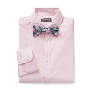 Van Heusen Flex Little & Big Boys Long Sleeve Shirt + Tie Set