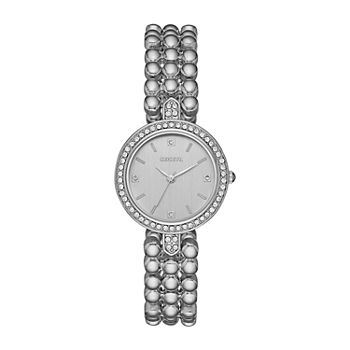Geneva Womens Crystal Accent Silver Tone Bracelet Watch - Fmdjm207