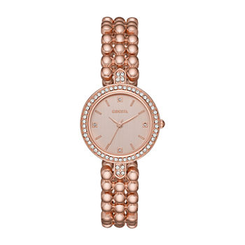Geneva Womens Crystal Accent Rose Goldtone Bracelet Watch - Fmdjm208