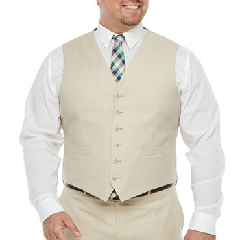 Stafford Super Suit Mens Stretch Classic Fit Suit Vest - Big and Tall