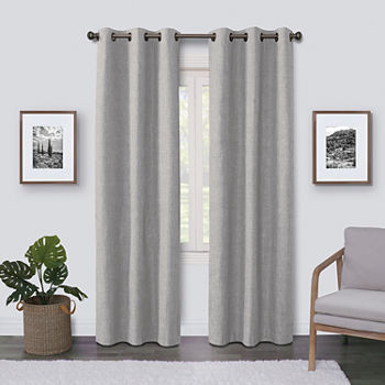 Maxx Blackout Emerson Solid 100% Blackout Grommet-Top Single Curtain Panel