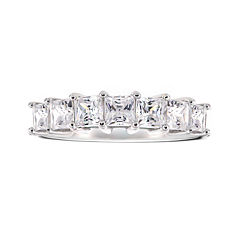 DiamonArt® Cubic Zirconia Sterling Silver 7-Stone Ring