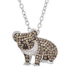 Animal Planet™ Australia Koala Crystal Sterling Silver Pendant Necklace