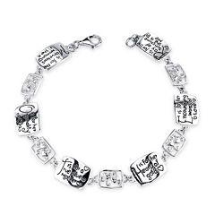 Inspired Moments™ Sterling Silver Mother Bracelet