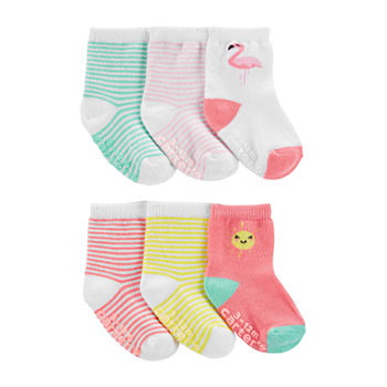 Carter's Baby Girls 6 Pair Crew Socks