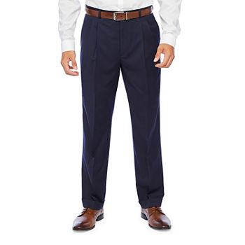 Stafford Super Mens Classic Fit Pleated Suit Pants