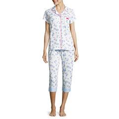 Laura Ashley 2-pc. Floral Pant Pajama Set