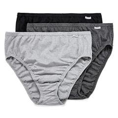 Jockey® Elance® 3-pk. Cotton French-Cut Panties - 1485 Plus