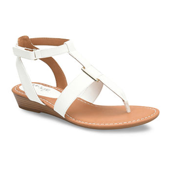 c050b42550b1 White Women s Sandals   Flip Flops for Shoes - JCPenney