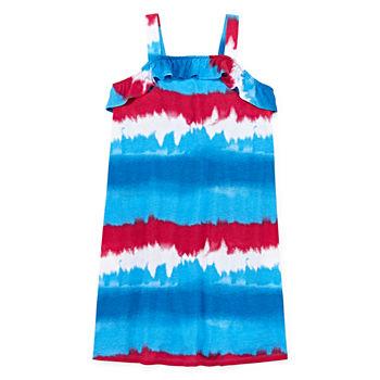 4e9d5d738e9d2 City Streets Sleeveless Tie Dye A-Line Dress Girls