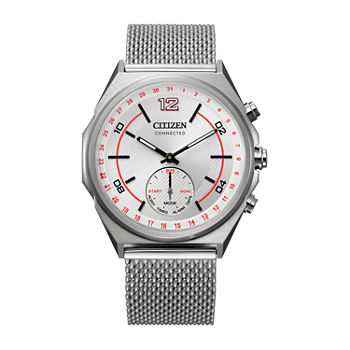 Citizen Connected Stainless Steel Mens Silver Tone Bracelet Watch-CX0000-71A