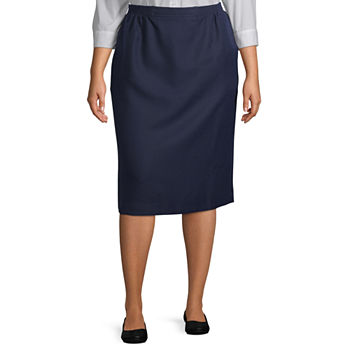 Alfred Dunner Suiting Womens Pencil Skirt-Plus