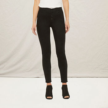 a.n.a. Womens Tall High Rise Skinny Jeggings