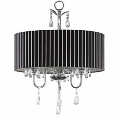 Safavieh Abbeville 3 Light Chrome Beaded Chandelier