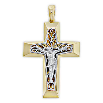 Mens cross fine necklaces pendants for jewelry watches jcpenney shape1 gendermens shapecross aloadofball Choice Image