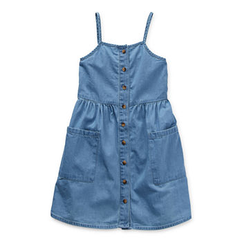 Okie Dokie Toddler Girls Sleeveless Shirt Dress