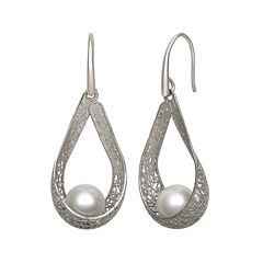 Cultured Freshwater Pearl Sterling Silver Earrings