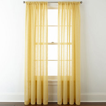 Yellow Sheer Curtains For Window