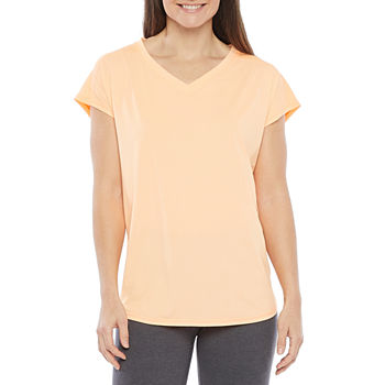Xersion Train Womens V Neck Short Sleeve T-Shirt