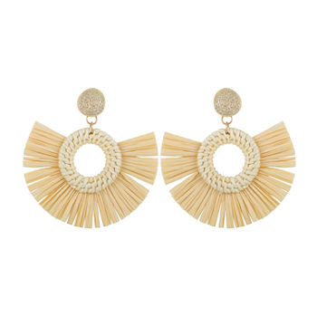 Bijoux Bar Raffia Drop Earrings